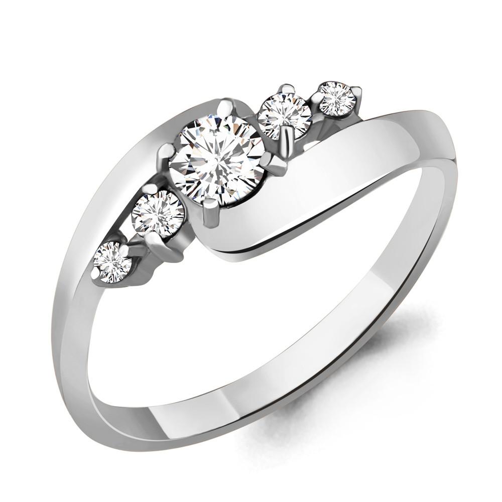 Серебряное кольцо с фианитом swarovski AQUAMARINE (#708741)