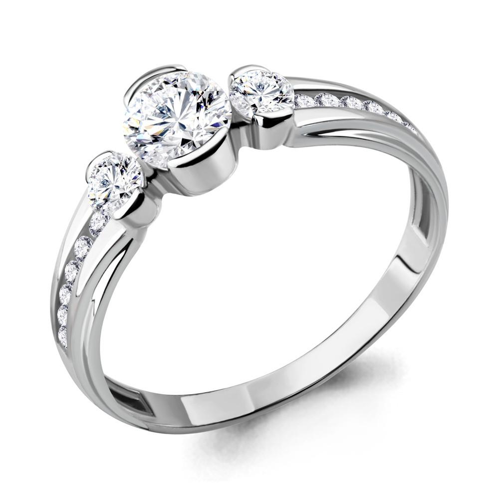 Серебряное кольцо с фианитом swarovski AQUAMARINE (#708747)