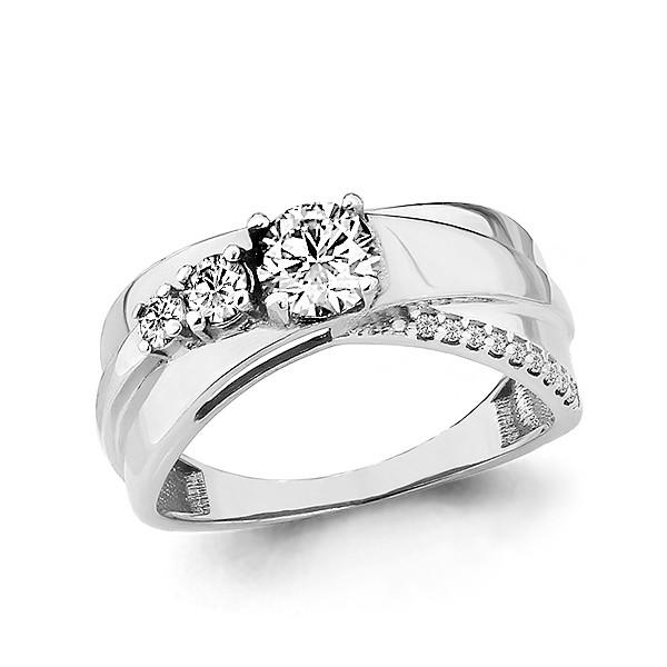 Серебряное кольцо с фианитом сваровски AQUAMARINE (#703836)