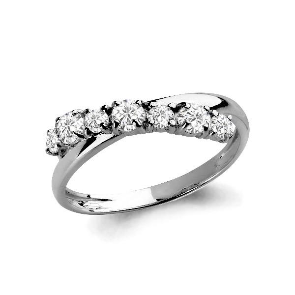 Серебряное кольцо с фианитом сваровски и фианитом AQUAMARINE (#627426)