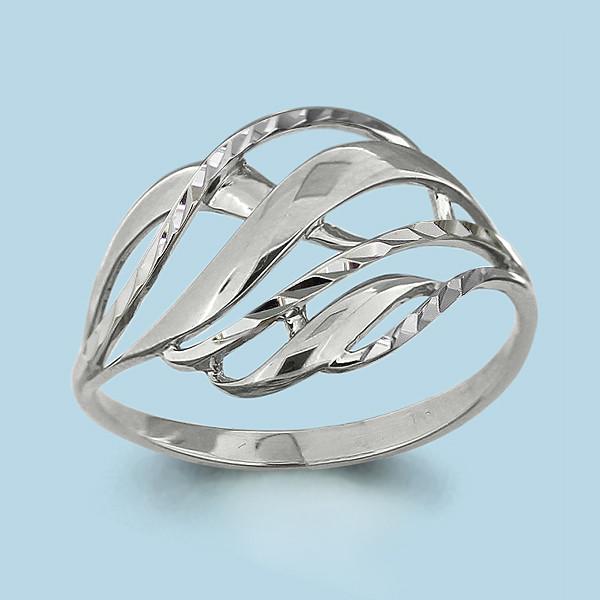 Серебряное кольцо AQUAMARINE (#703750)