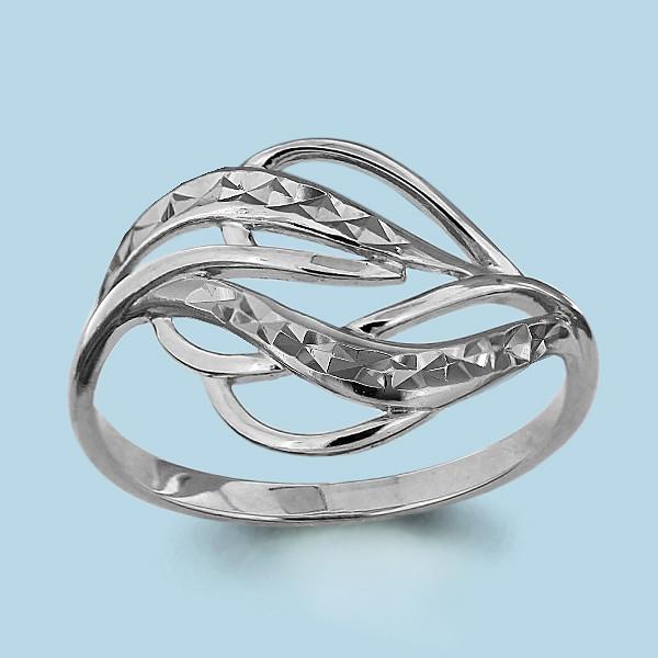 Серебряное кольцо AQUAMARINE (#703749)