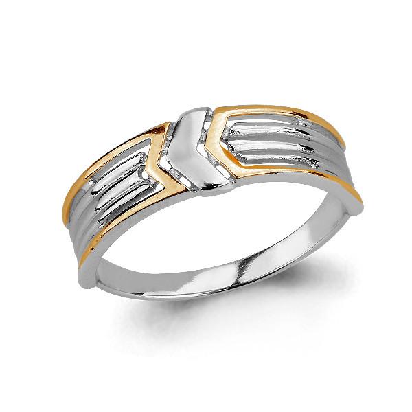 Серебряное кольцо AQUAMARINE (#705670)