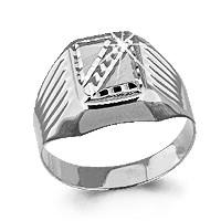 Серебряное кольцо AQUAMARINE (#712372)