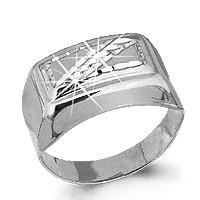 Серебряное кольцо AQUAMARINE (#712371)