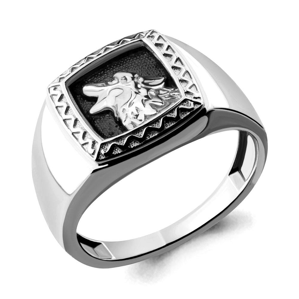 Серебряное кольцо AQUAMARINE (#694935)