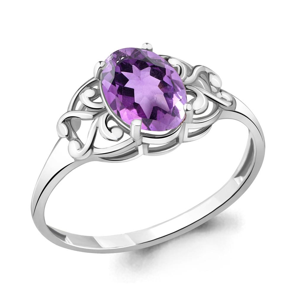Серебряное кольцо с аметистом AQUAMARINE (#708962)