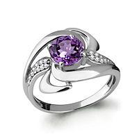 Серебряное кольцо с аметистом AQUAMARINE (#697776)