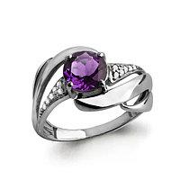 Серебряное кольцо с аметистом AQUAMARINE (#582409)