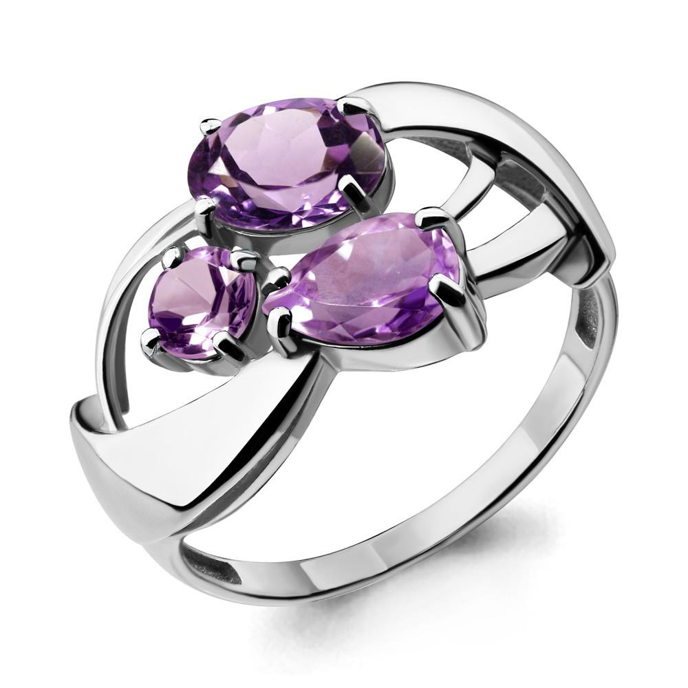 Серебряное кольцо с аметистом AQUAMARINE (#708966)