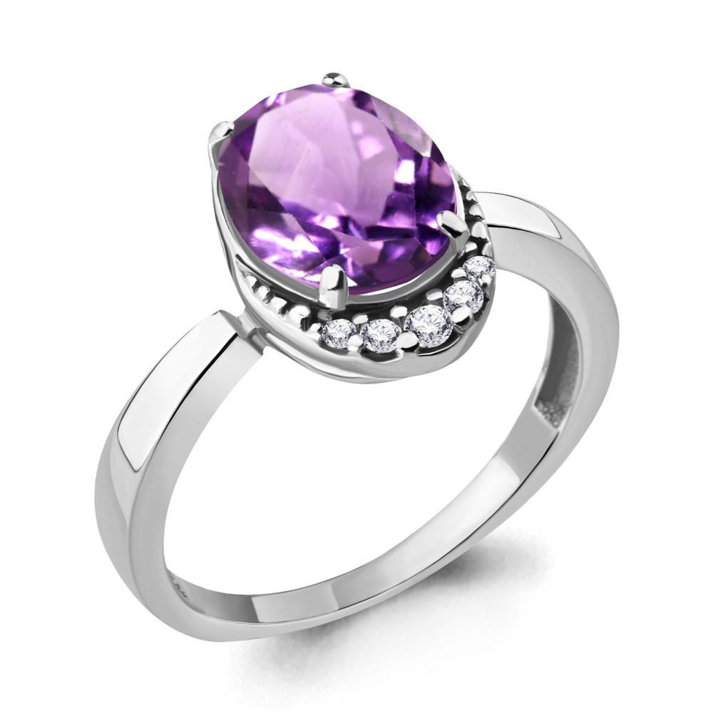 Серебряное кольцо с аметистом AQUAMARINE (#706532)