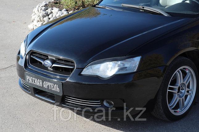 Накладки на передние фары (реснички) Subaru Legacy 2003-2009, фото 2