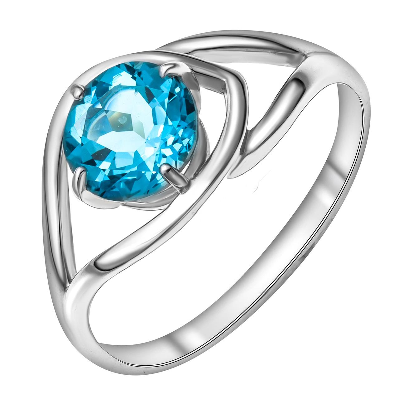 Серебряное кольцо с  и топазом AQUAMARINE (#410099)