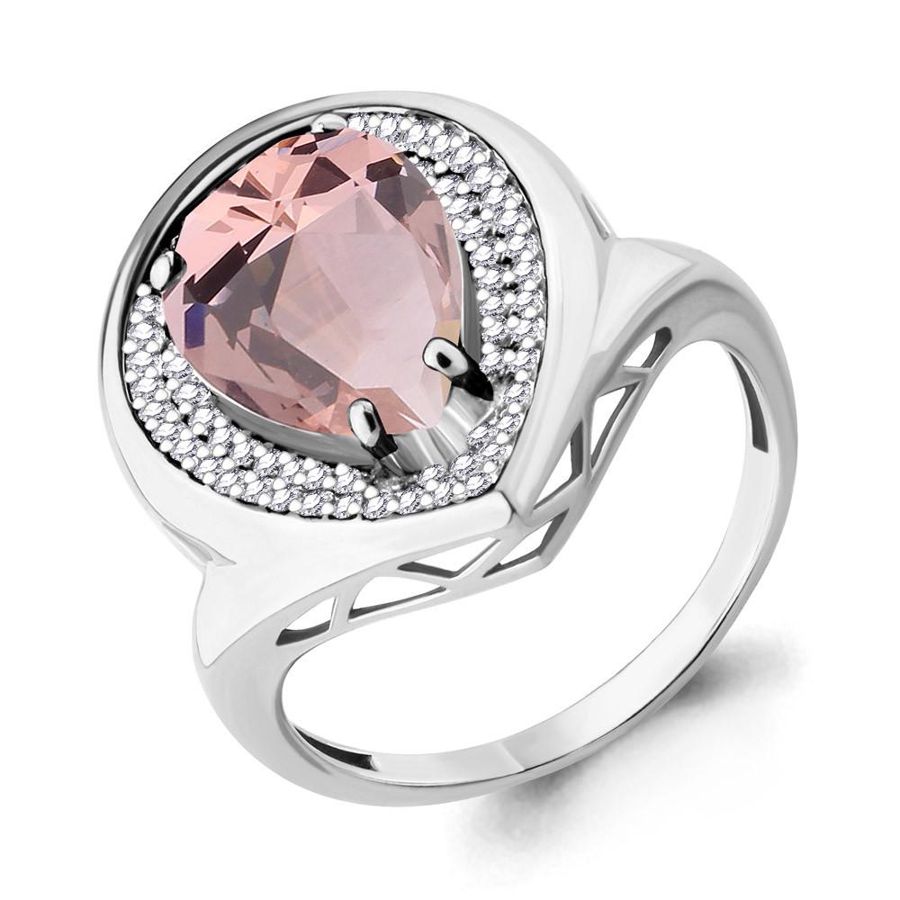 Серебряное кольцо с  и фианитом AQUAMARINE (#705080)