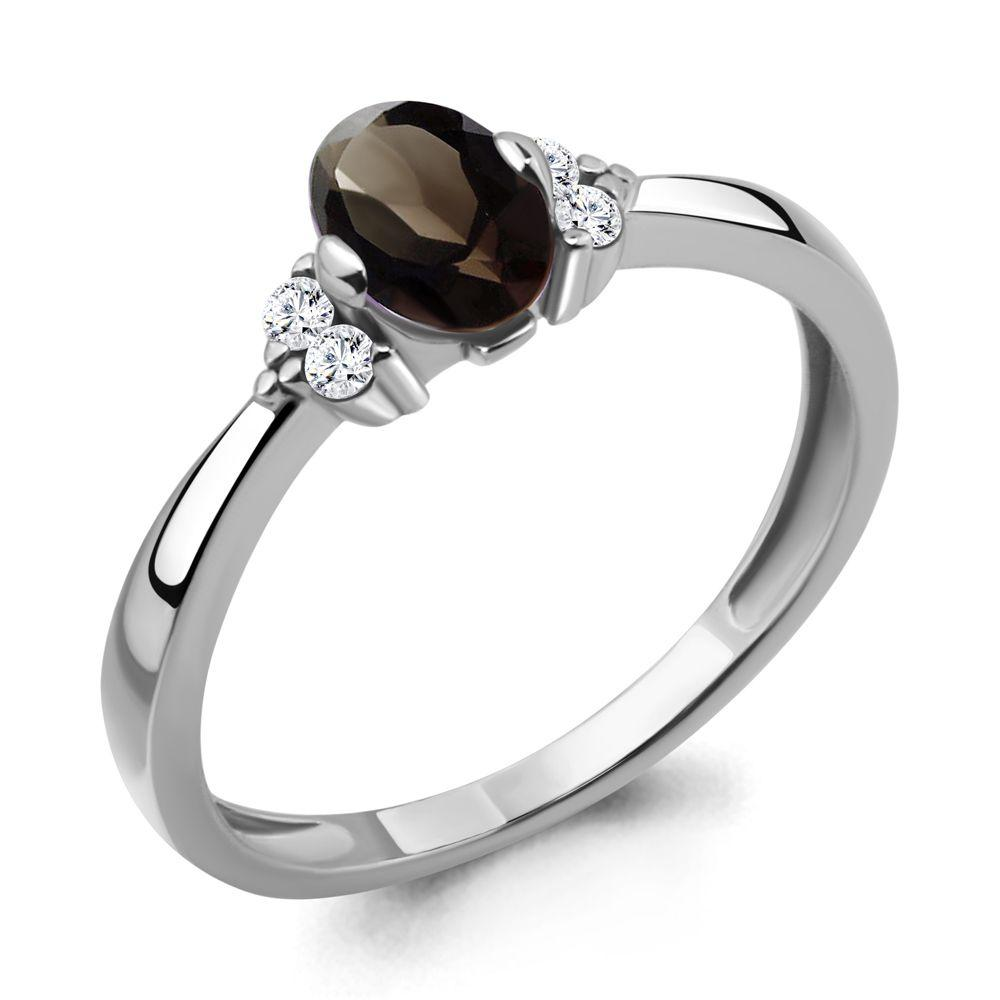 Серебряное кольцо с кварцем AQUAMARINE (#697773)