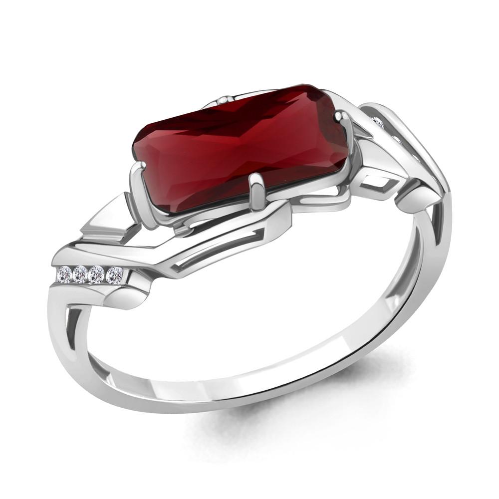 Серебряное кольцо с нано гранатом AQUAMARINE (#706604)