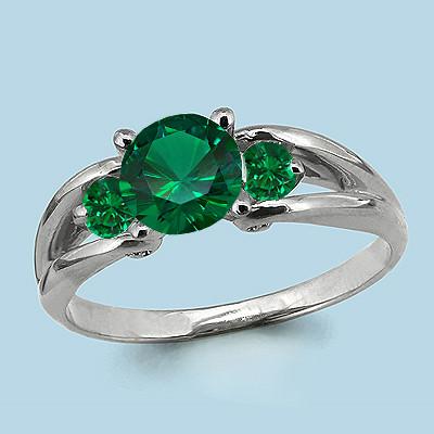 Серебряное кольцо с наноизумрудом синт. AQUAMARINE .(#712387)