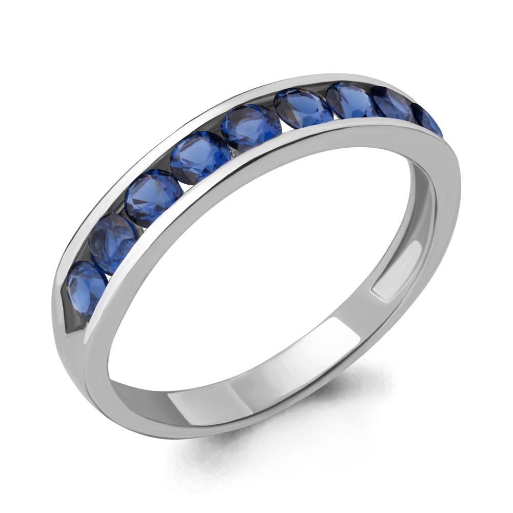 Серебряное кольцо с наносапфиром синт. AQUAMARINE (#708486)