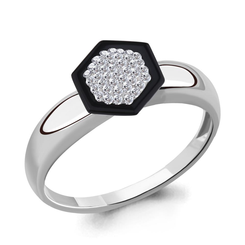 Серебряное кольцо с стеклом AQUAMARINE (#711641)