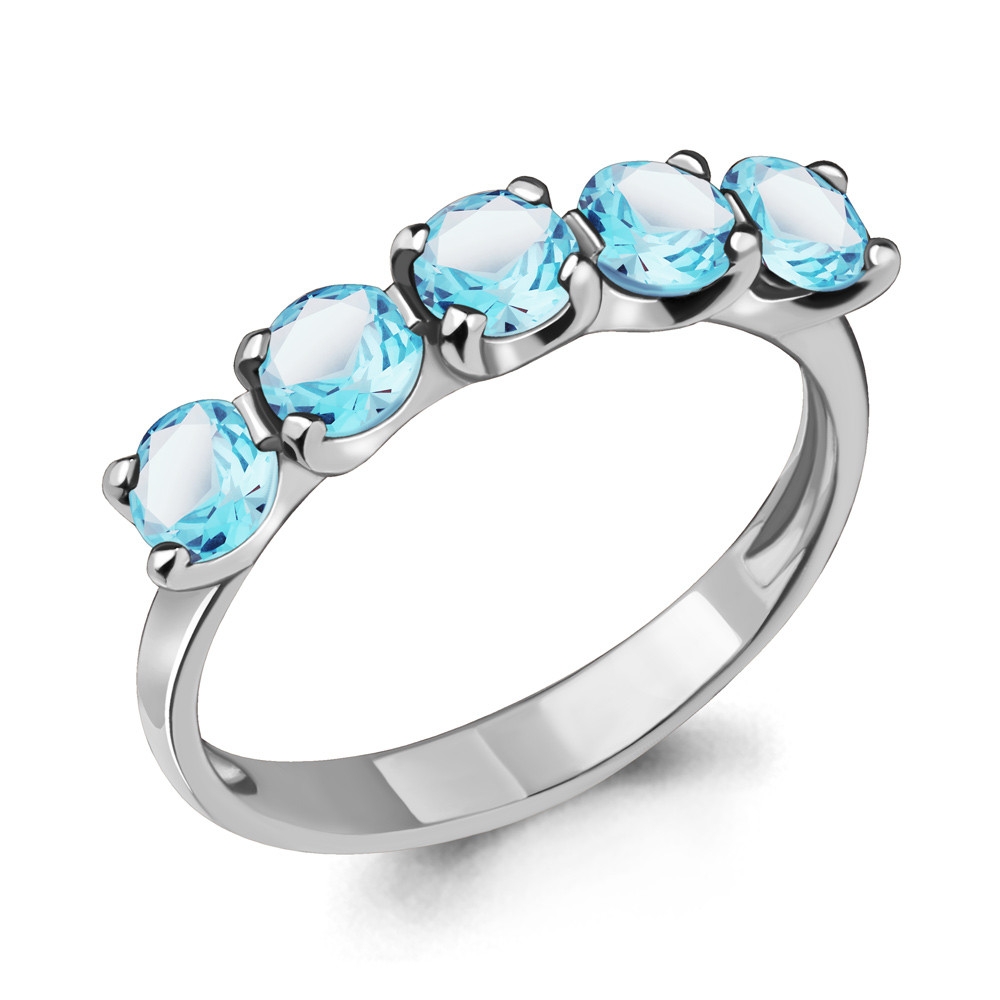 Серебряное кольцо с топазом AQUAMARINE (#712940)