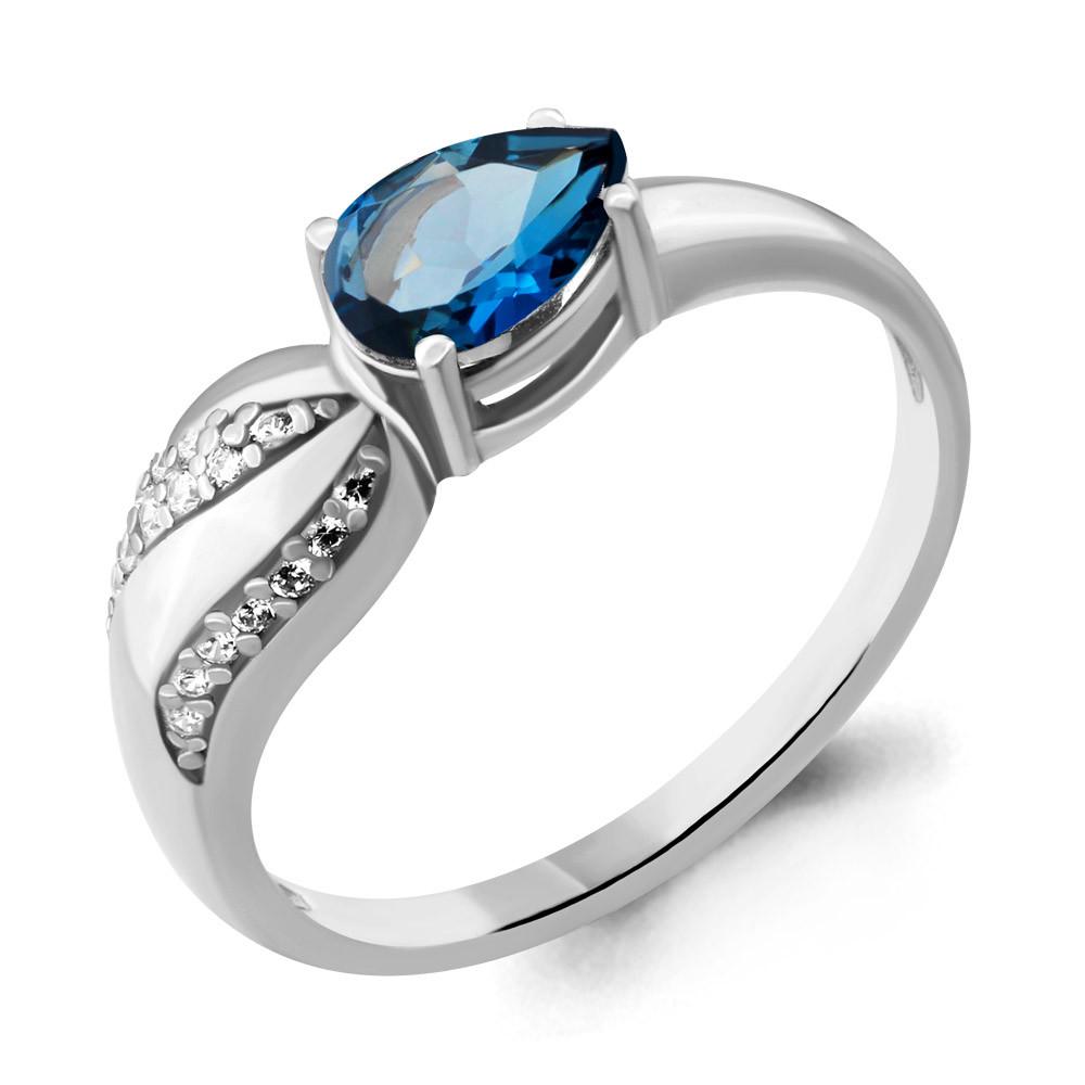 Серебряное кольцо с топазом лондон AQUAMARINE (#675834)