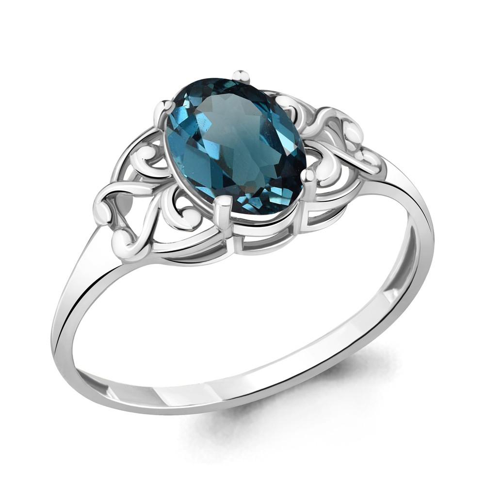 Серебряное кольцо с топазом лондон AQUAMARINE (#635846)