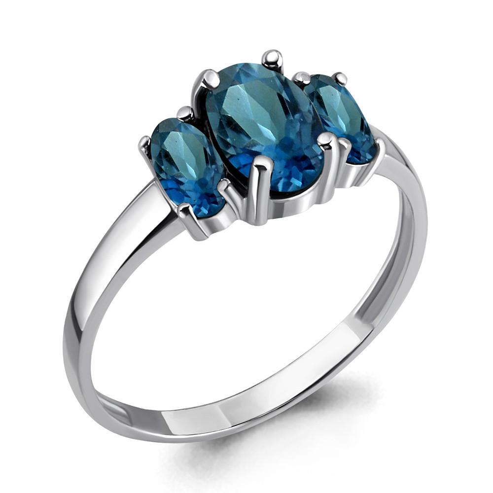 Серебряное кольцо с топазом лондон AQUAMARINE (#703602)