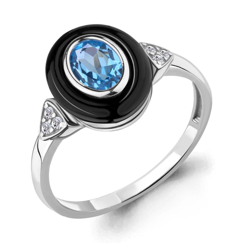 Серебряное кольцо с топазом свисс AQUAMARINE (#700274)
