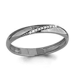 Серебряное кольцо с фианитом AQUAMARINE (#706632) 17,5