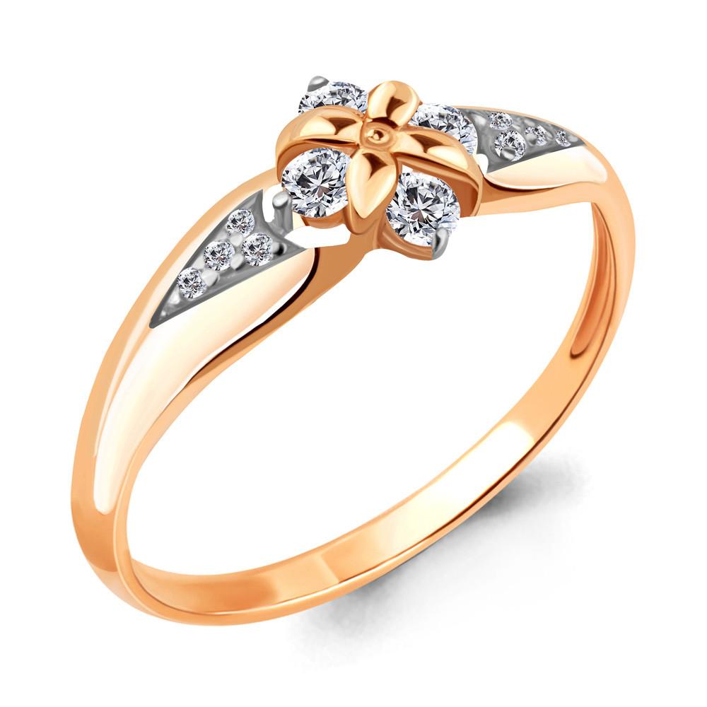 Серебряное кольцо с фианитом AQUAMARINE (#712269)