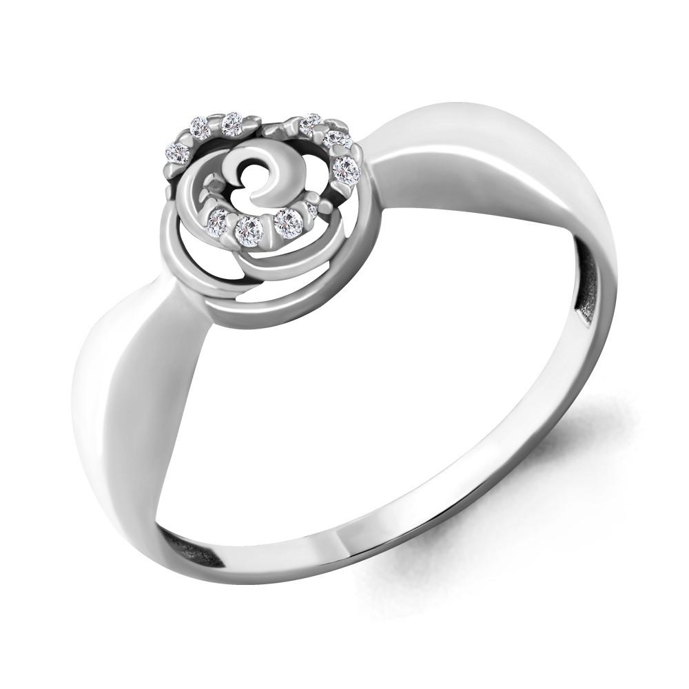 Серебряное кольцо с фианитом AQUAMARINE (#664406)