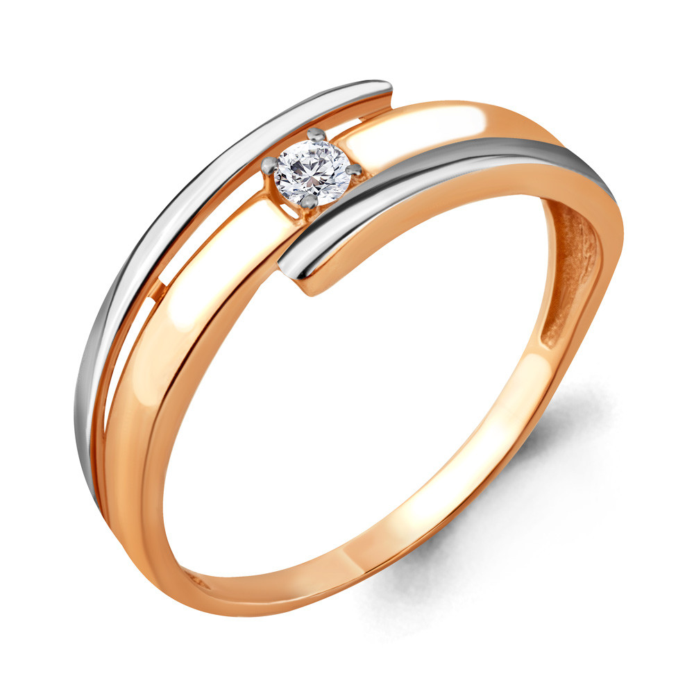 Серебряное кольцо с фианитом AQUAMARINE (#712119)