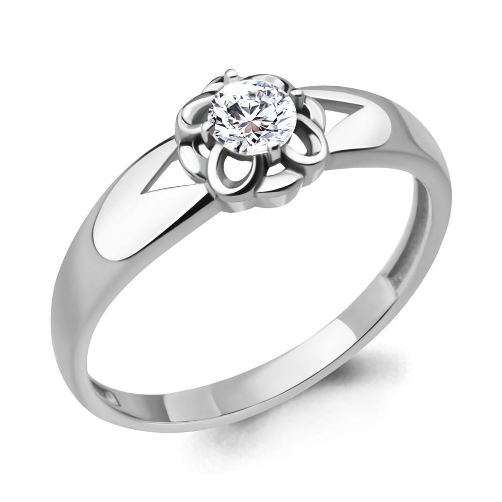 Серебряное кольцо с фианитом AQUAMARINE (#715220)