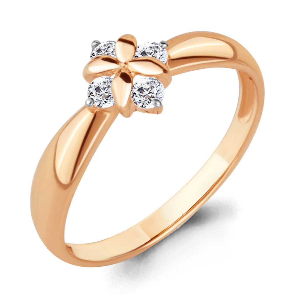 Серебряное кольцо с фианитом AQUAMARINE (#706623)