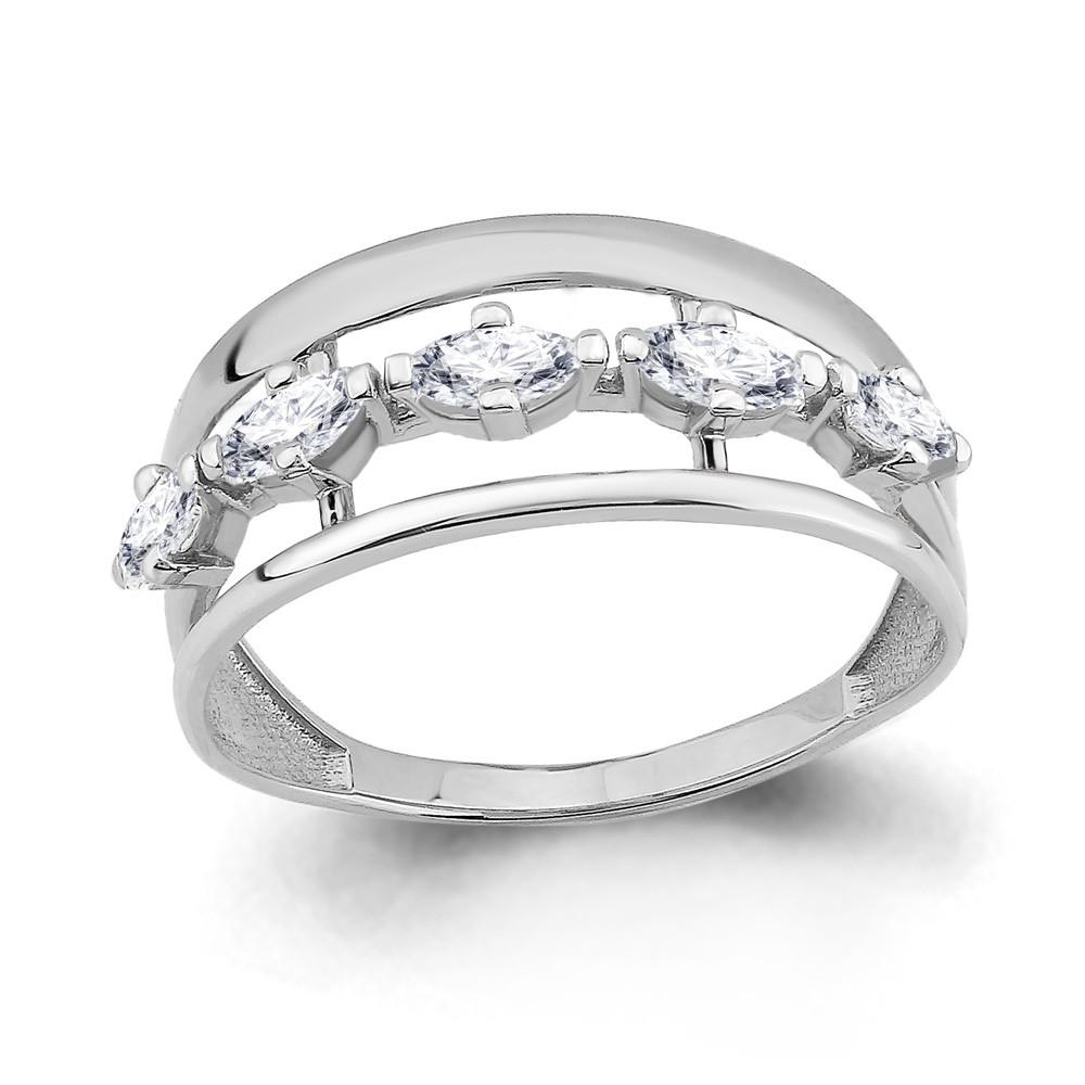 Серебряное кольцо с фианитом AQUAMARINE (#708778)