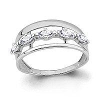 Серебряное кольцо с фианитом AQUAMARINE (#653064) 18