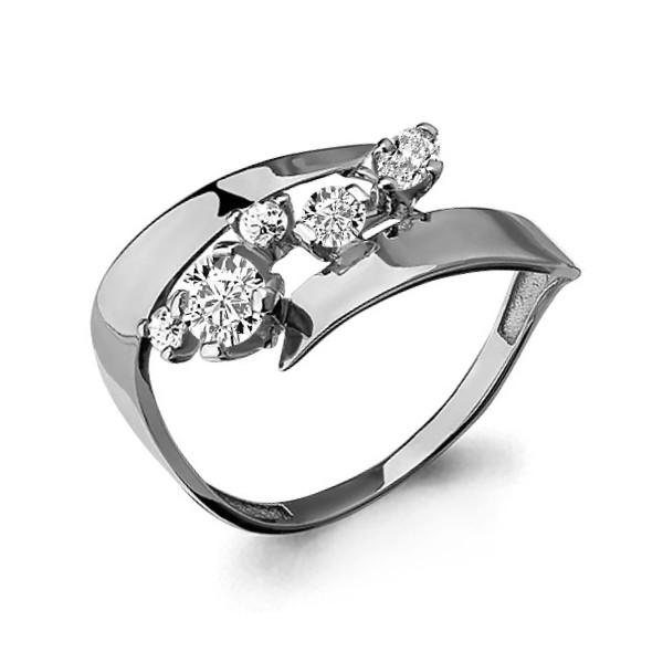 Серебряное кольцо с фианитом AQUAMARINE (#652889)