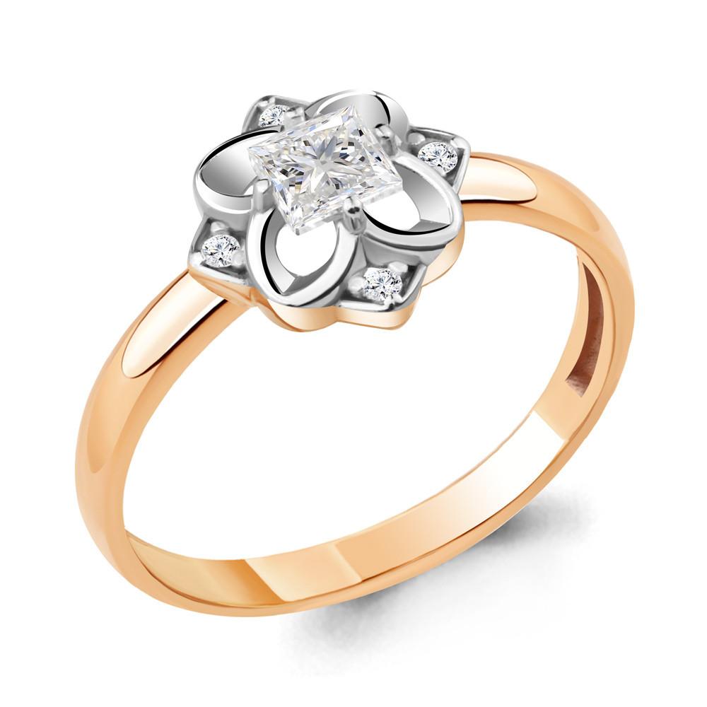 Серебряное кольцо с фианитом AQUAMARINE (#714867)