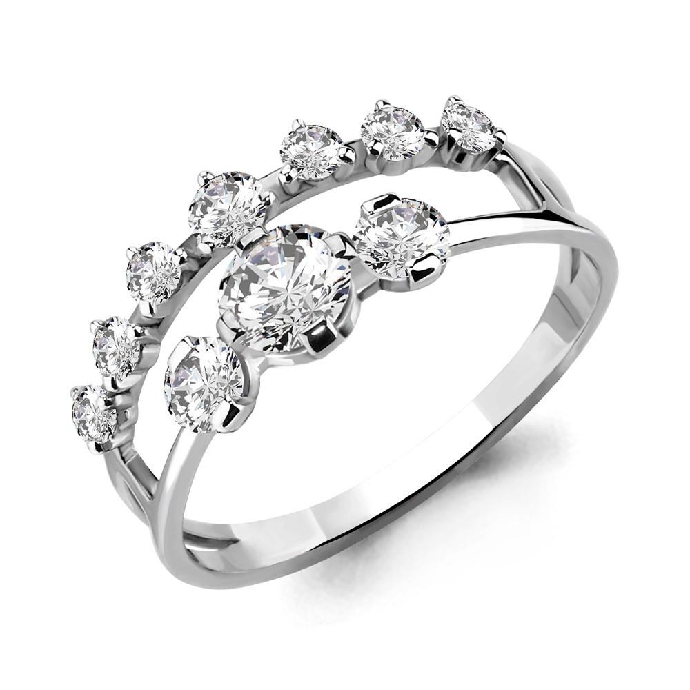 Серебряное кольцо с фианитом AQUAMARINE (#652892)