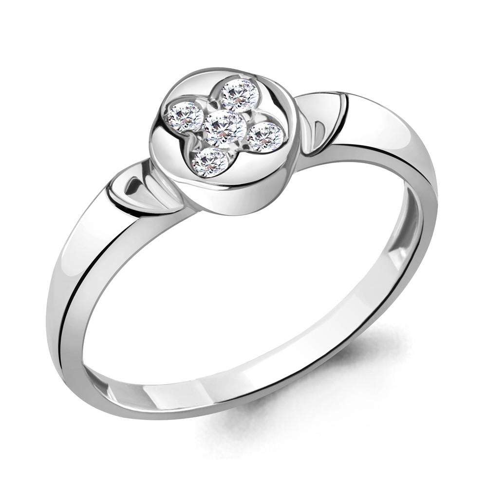 Серебряное кольцо с фианитом AQUAMARINE (#711849)