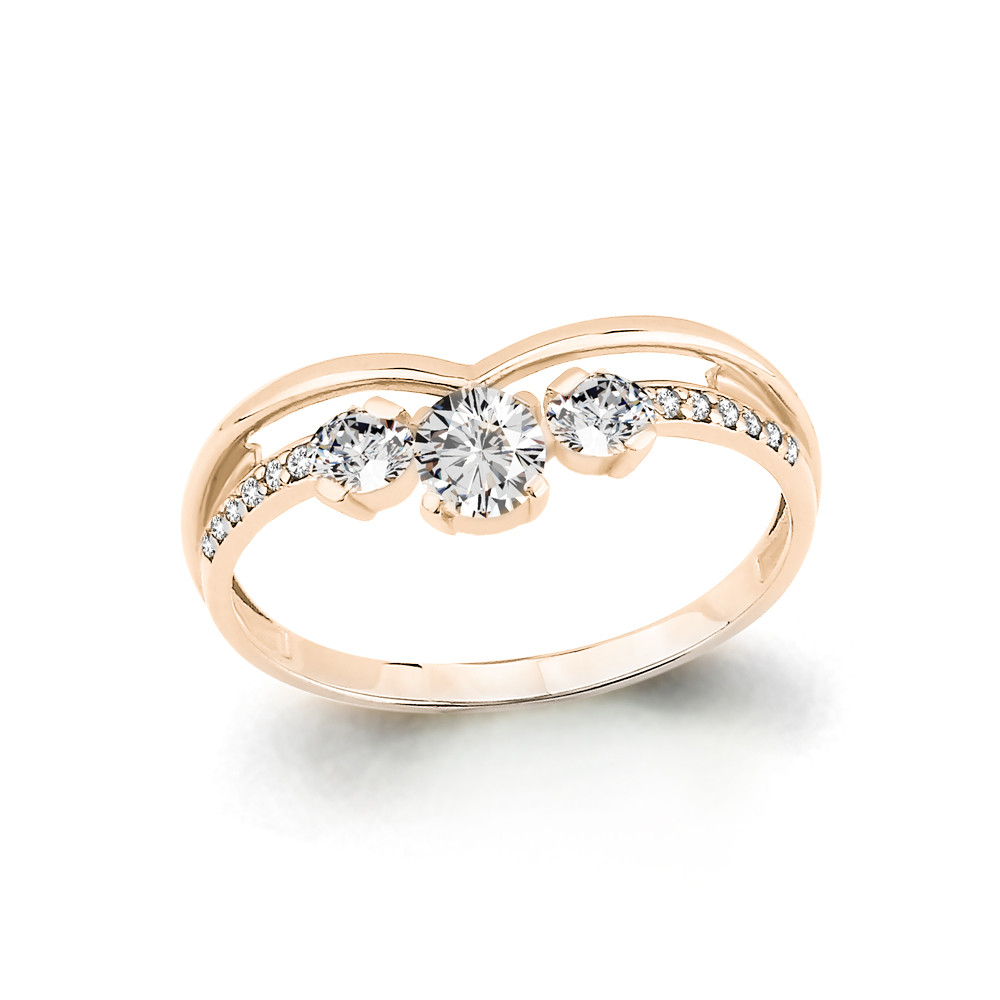 Серебряное кольцо с фианитом AQUAMARINE (#657370)