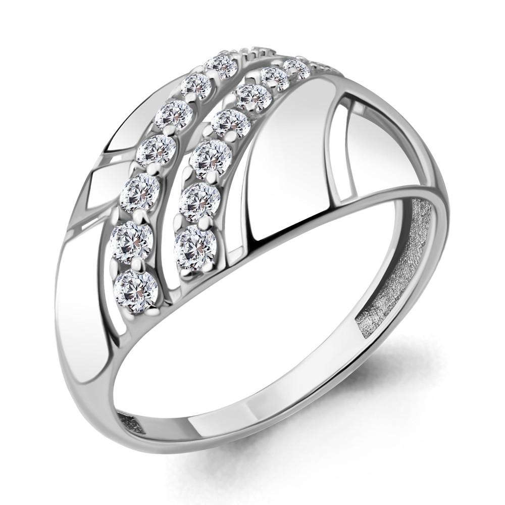 Серебряное кольцо с фианитом AQUAMARINE (#708731)