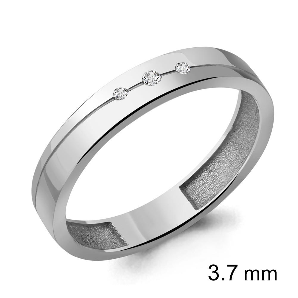 Серебряное кольцо с фианитом AQUAMARINE (#706631)