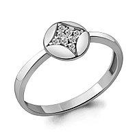 Серебряное кольцо с фианитом AQUAMARINE (#706429)
