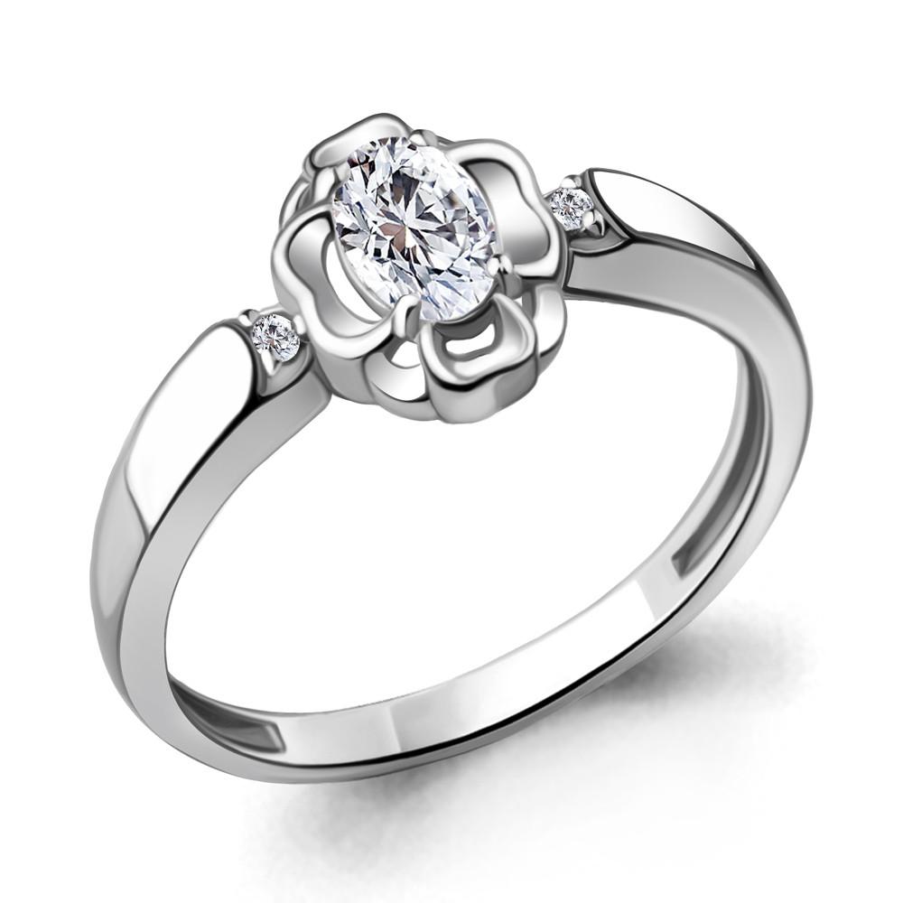 Серебряное кольцо с фианитом AQUAMARINE (#716915)