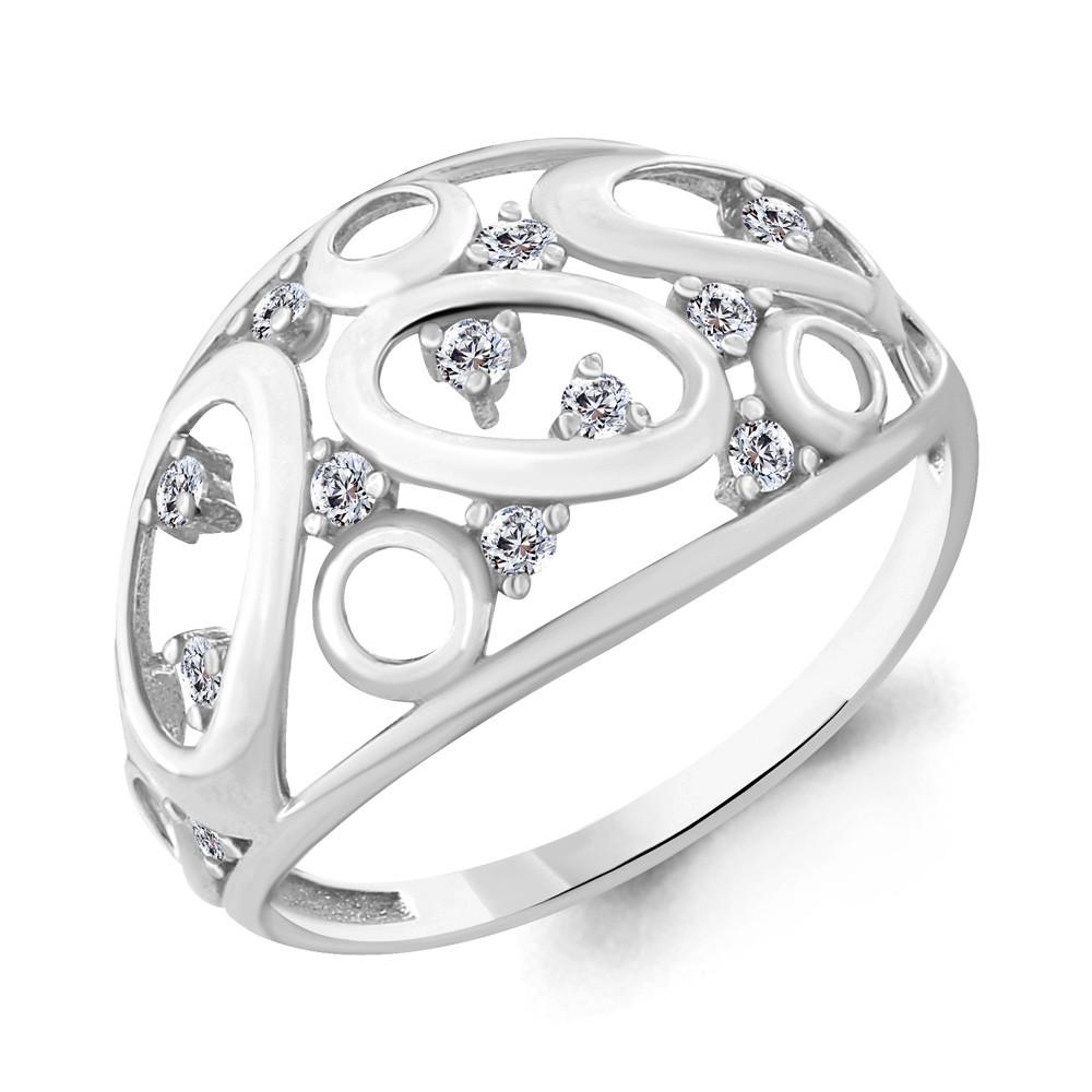 Серебряное кольцо с фианитом AQUAMARINE (#667434)