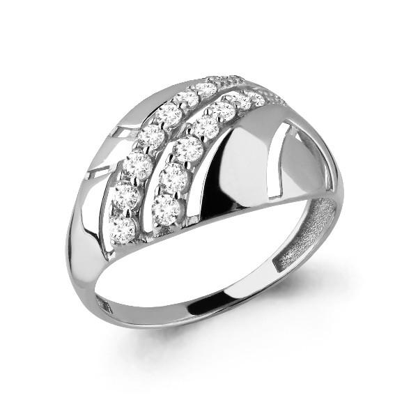 Серебряное кольцо с фианитом AQUAMARINE (#650086)