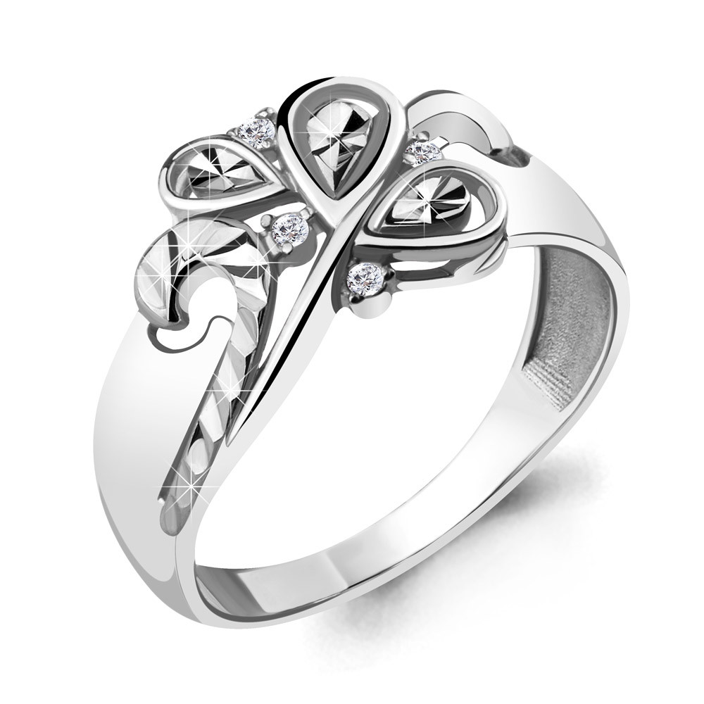 Серебряное кольцо с фианитом AQUAMARINE (#714963)