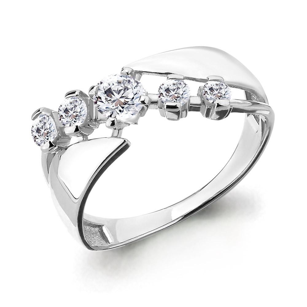 Серебряное кольцо с фианитом AQUAMARINE (#708777)