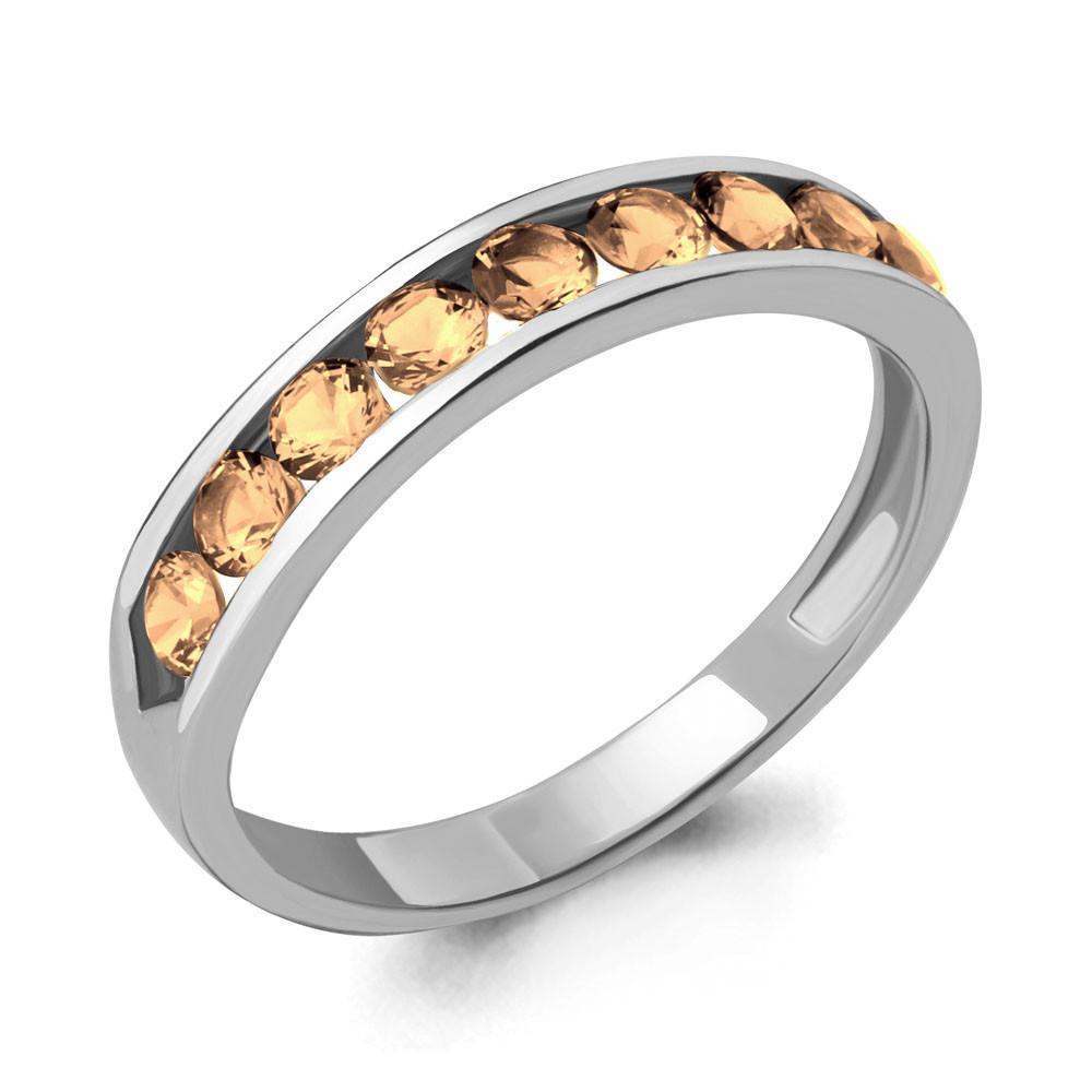 Серебряное кольцо с фианитом AQUAMARINE (#711670)